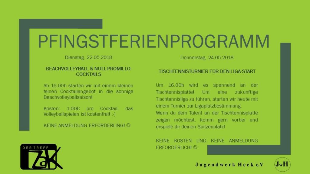 Pfingstferienprogramm
